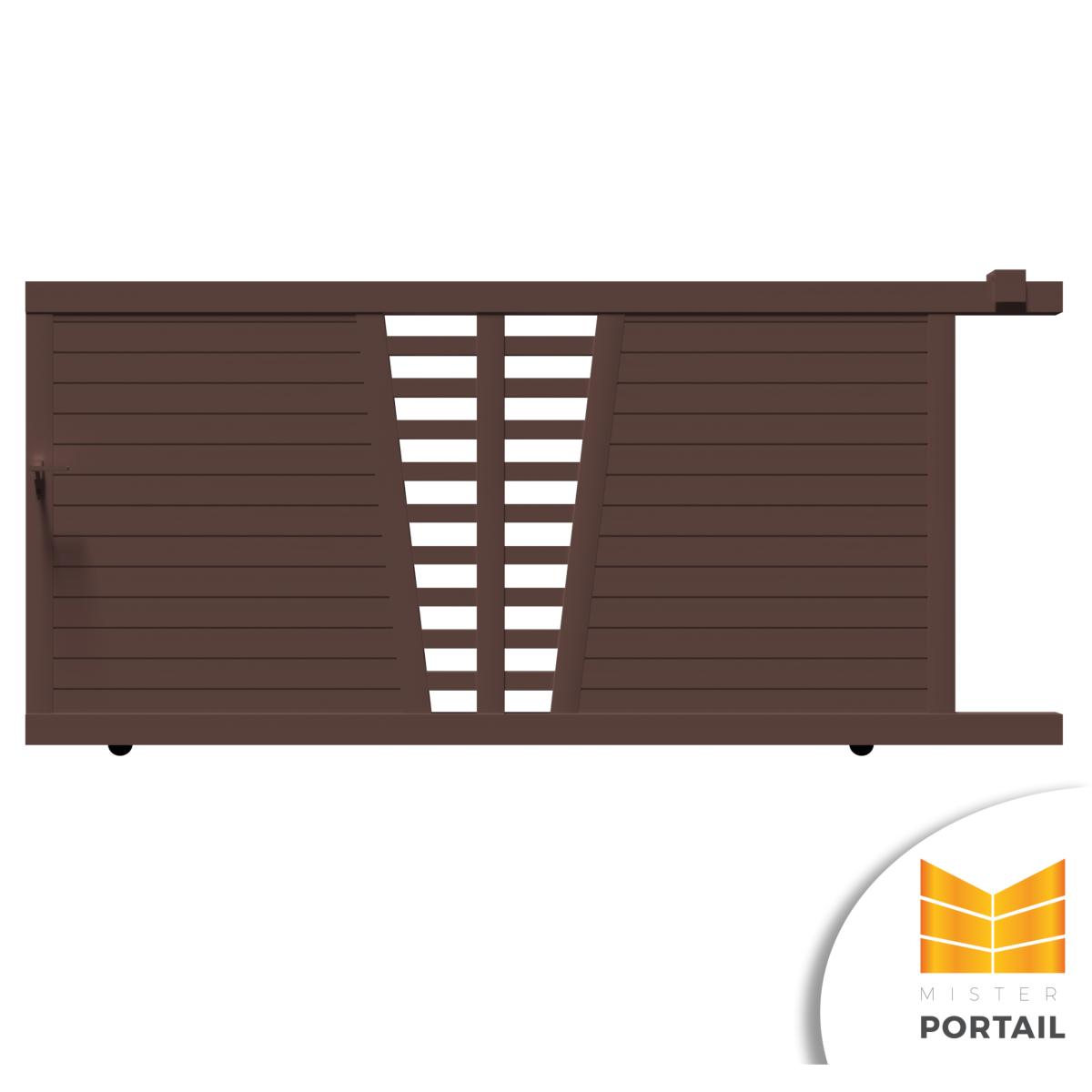 portail moderne alu coulissant pour votre maison iris misterportail. Black Bedroom Furniture Sets. Home Design Ideas