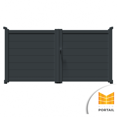 Portail Battant Moderne CARLINE - Anthracite