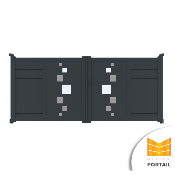 Portail Battant Design RHIMANTHE - Anthracite