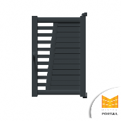 Portillon Moderne IRIS - Anthracite