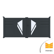 Portail Battant Design POLYGALA - Anthracite