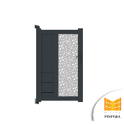 Portillon Design BRUYERE BICOLORE - Blanc / Anthracite