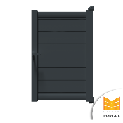 Portillon Moderne CARLINE - Anthracite
