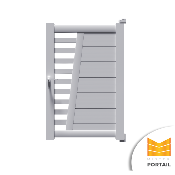 Portillon Moderne IRIS 200 - Anthracite