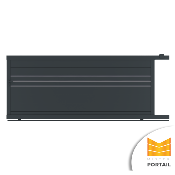 Portail Alu Coulissant Moderne DORONIC - Anthracite