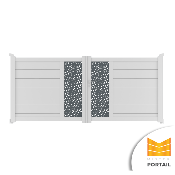 Portail Battant Design BRUYERE BICOLORE - Blanc / Anthracite
