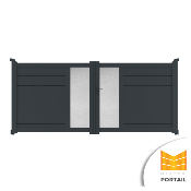 Portail Battant Design ASTRAGALE - Anthracite