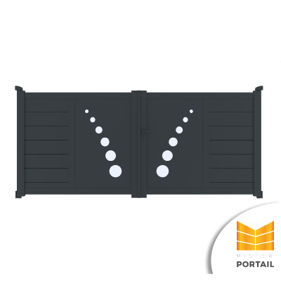 Portail Battant Design TROLLE - Anthracite